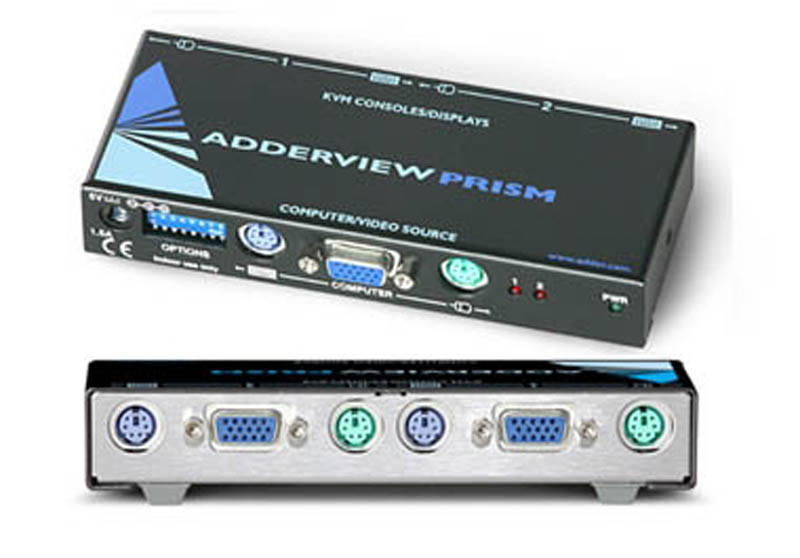 ADDERView Prism 2 way Reverse KVM Switch / Distribution Amplifier