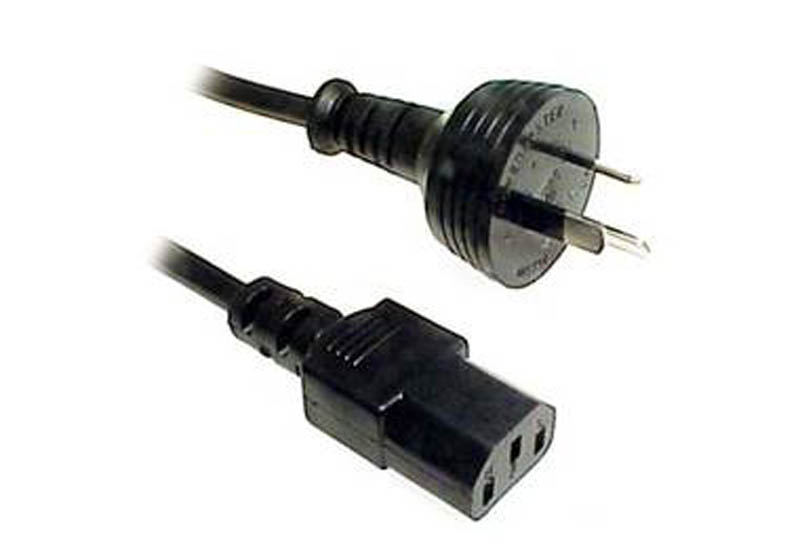 Power Cable 3-pin Plug to IEC C13 Socket 2M