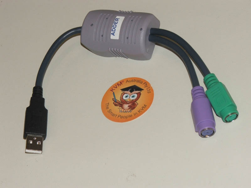 Adder USB to PS2 Keyboard/Mouse Converter Cable