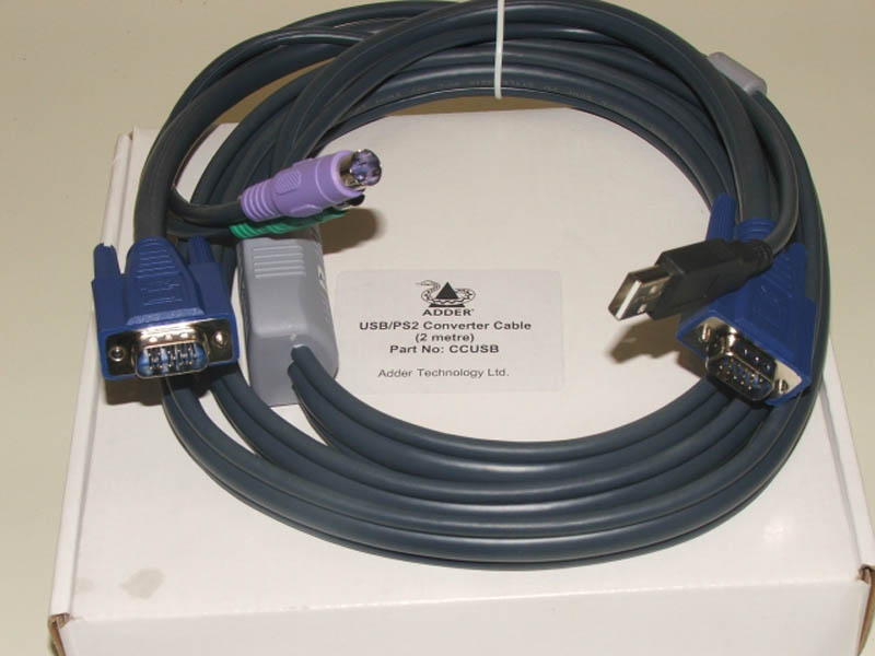ADDER KVM Interface Cable USB & VGA - PS/2 & VGA 2m  (linited stock)