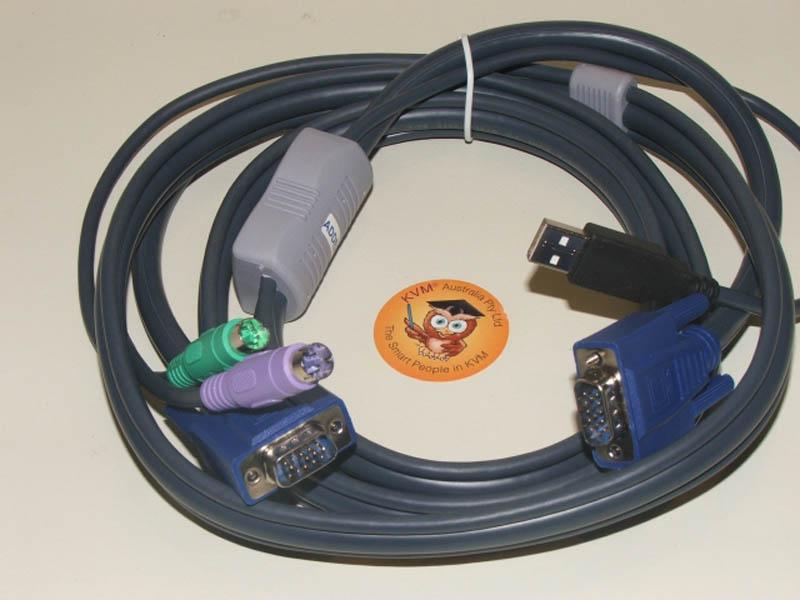 ADDER KVM Interface Cable USB & VGA - PS/2 & VGA 10m  (limited Stock)