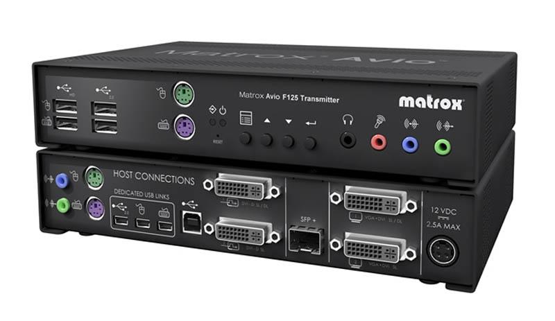 Matrox Avio F125 Dual-DVI Fiber Optic KVM Extender Transmitter