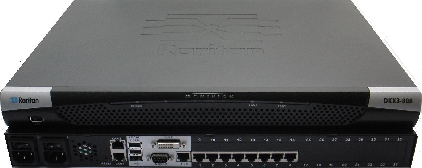 Raritan 8-Port 8-User Dominion KX III KVM-Over-Ip Switch