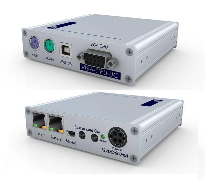 GDSys VGA-CPU-UC without Power Adaptor.  Connect one computer to two different matrix switches