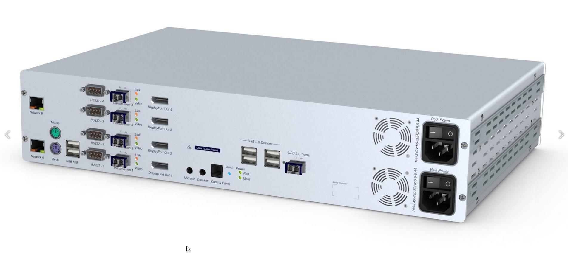 GDsys DL-Vision-DP(M)-MC4-ARU2+CON User Console  -  4x DP PS/2-USB Audio RS232 USB 2.0 DT/RM