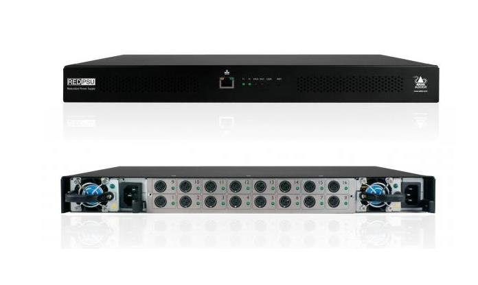 Adder 16 Port Power Supply System (pre-fited with one removable power supply) Rack mountable