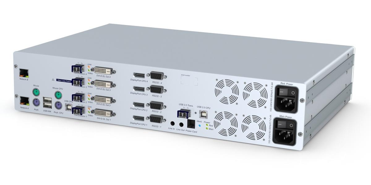 GDsys DL-Vision(S)-MC4-ARU2+CPU-F Transmitter Unit  - 4 x DVI-DL PS/2-USB Audio RS232 USB 2.0 DT/RM