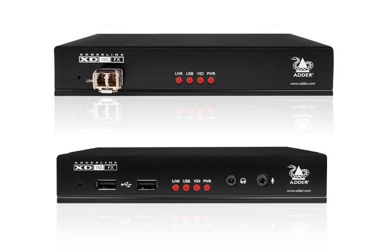 Adder DVI Video Extender with USB2.0 over a single duplex fiber cable at up to 4km