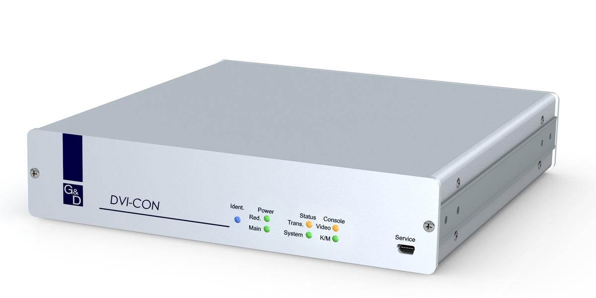 GDSys Console module DVI-CON 3.0 connects a single Screen with single-link DVI/VGA, USB/PS2/Audio to the Matrix module