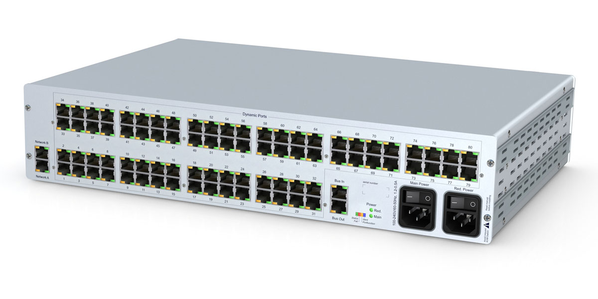 GDSys ControlCenter-Compact-80C - Compact matrix switch with 80 dynamic ports over CatX. 2RU