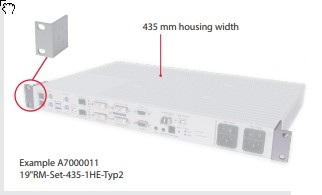 """GDSys Horizontal rackmount set for devices housed in 435 mm wide casings.19"""" RM-Set-435-1HE-Typ2"""