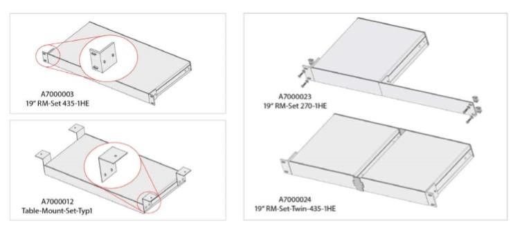 "GDSys Horizontal rackmount set for devices housed in 270mm 19"" aluminium casings. RM-Set 270"