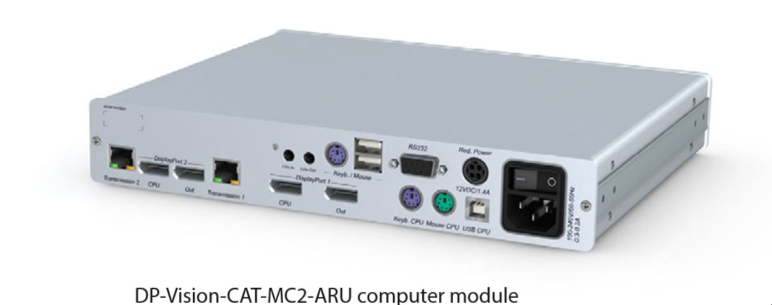 GDSys DP-Vision-CAT-MC2-ARU2-CPU Transmitter 2 x DP PS/2-USB Audio RS232 USB 2.0 High Speed Desktop