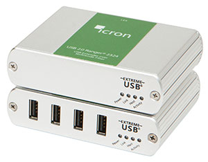 Icron USB 2.0 Ranger 2324 Four-port Multimode Fiber 500m extender