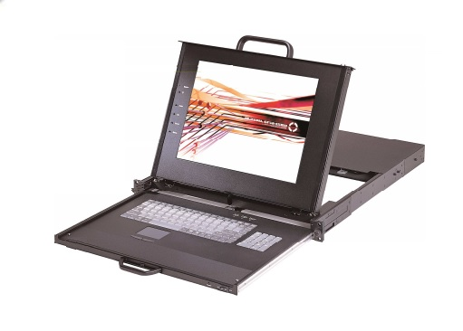 KVM 17 inch LCD monitor, Industrial Keyboard and Touchpad 1280 x 1024,  (one only left)