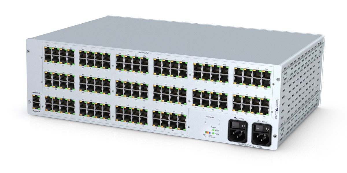 GDSys ControlCenter Compact 128C. Compact matrix switch with 128 dynamic ports over CatX. 3RU