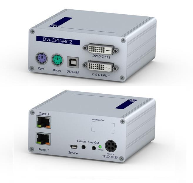 GDSys DVI-CPU-MC2 Computer Module - 2xDVI-SL PS/2 - USB-K/M, Audio, for 1 cluster, Desktop