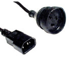Power Cable 3-pin Socket to IEC C13 Socket 1.5M