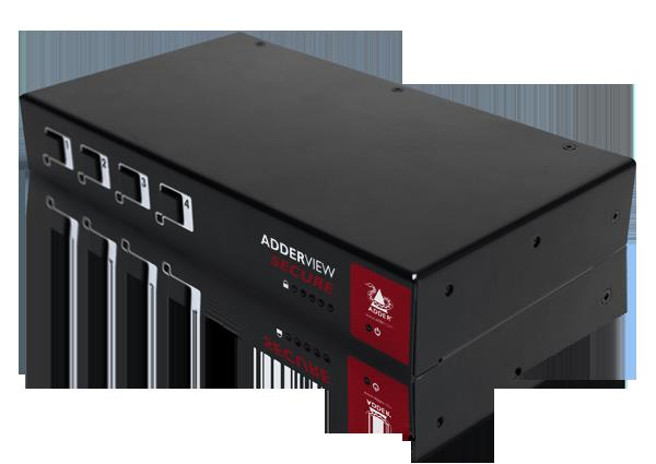 Adder Secure KVM Switch with USB, DVI 4 Port Pending EAL4 & Tempest Approvals AUS power cable