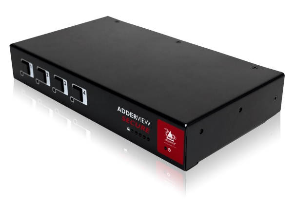 Adder Secure KVM Switch with USB, VGA 4 Port TEMPEST APPROVED AUS power cable