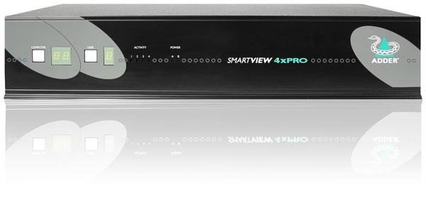 Adder SmartView 2X Pro 4 port KVM Switch