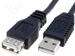 USB2 Type A Male to Type A Female cable, 5mt