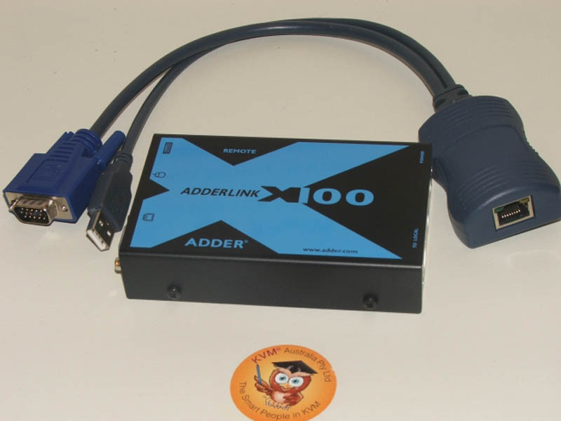 ADDERLink X100 Ps2 KVM receiver with Audio and CatxUSBA Module, PSU and Aust Lead