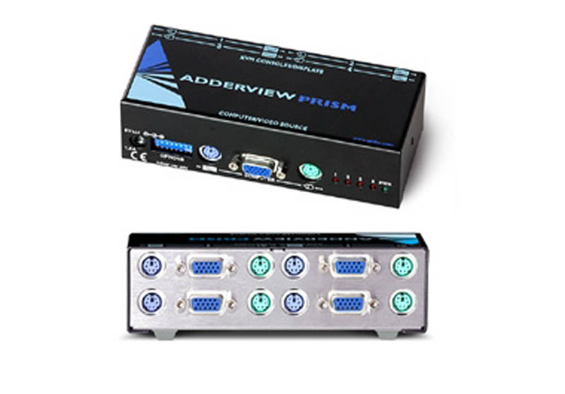 ADDERView Prism 4 way Reverse KVM Switch / Distribution Amplifier
