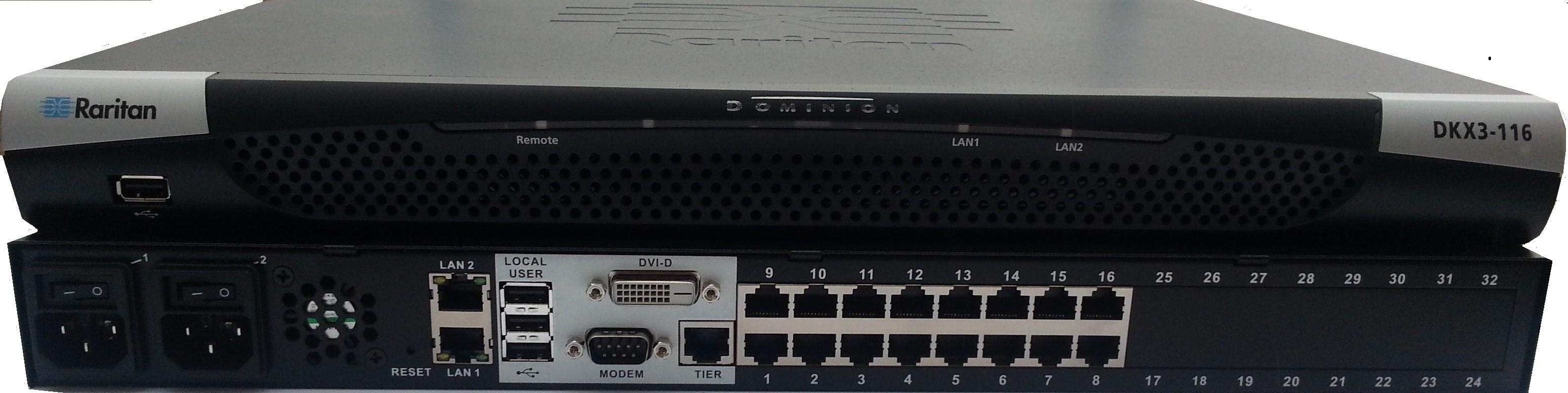 Raritan 16-Port 1-User Dominion KX III KVM-Over-Ip Switch