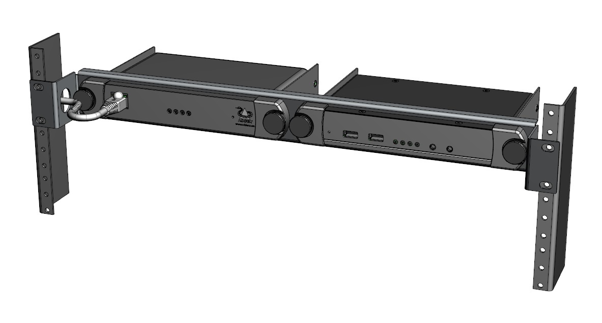 Adder 19 inch rack mount kit for two XD150 / XDIP / DDX User modules