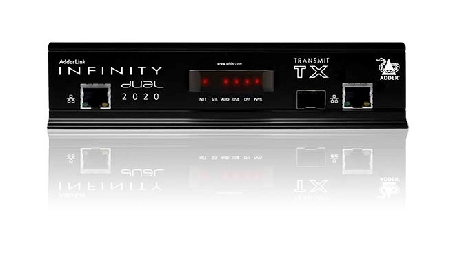 Adderlink INFINITY Dual 2020T,  DVI/USB KVM Extender - 2 x Single link DVI Dual Head Single Link Transmitter