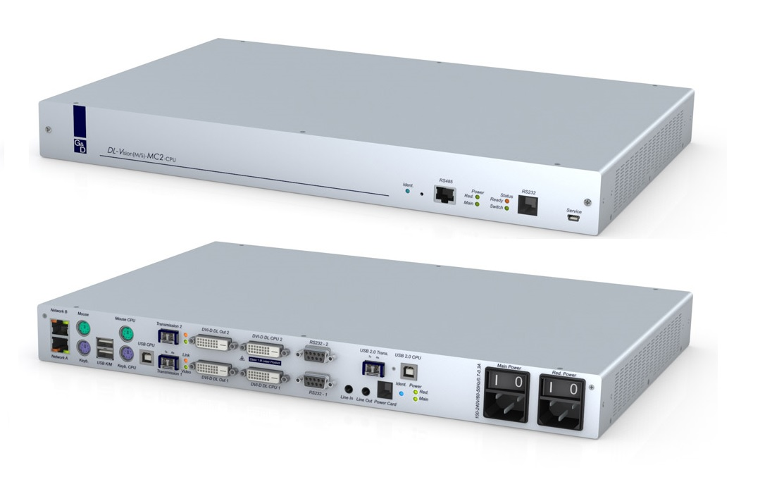 Guntermann and Drunck DL-Vision(M)-MC2-AR-CPU Transmitter unit  -  2 x DVI-DL PS/2-USB Audio RS232 DT/RM