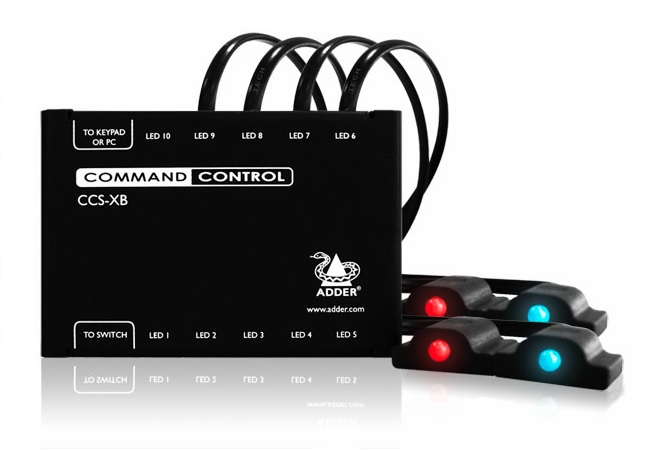 Adder Command and Control LED ID Expansion Box 8 channel includes 8 LEDS