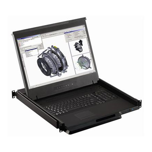 Cyberview 19 1U 2K LCD Console Drawer. Touchpad,  intergated 8-port HDMI/DVI-D KVM Sw