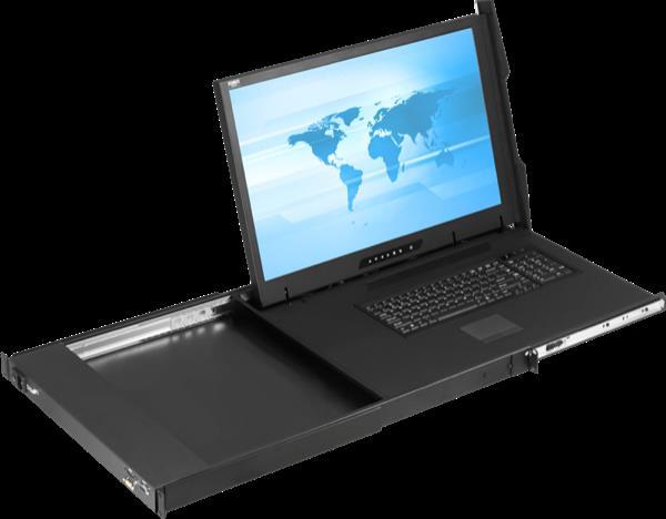 Cyberview 1U 24 WUXGA 1920 x 1200  LCD Console Drawer DVI-D + VGA video input