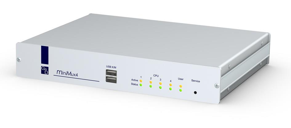 G&D miniMux4, Enables you to operate four computers from one user console. Supports VGA, USB/PS2, Desktop