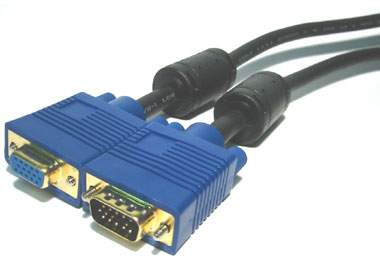 5M Gold HD15 M/F VGA Low Loss Video Extension Cable - Limited stock